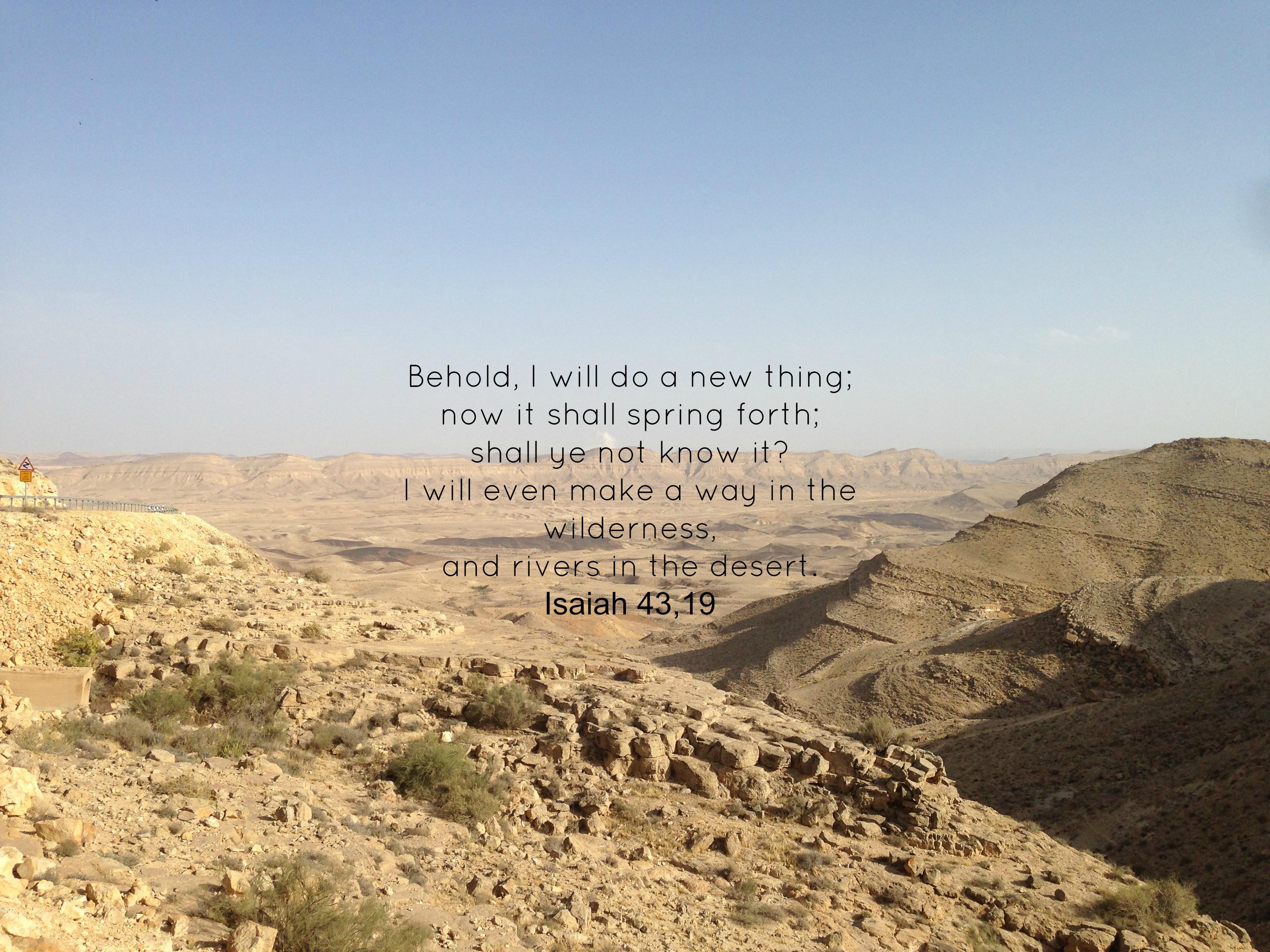 Schaut nach vorne, denn ich will etwas Neues tun! Jesaja 43,19