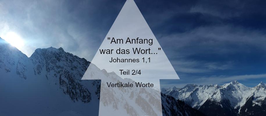 Vertikale Worte – sie können ein Leben verändern
